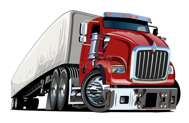 Dos desenhos animados caminhão semi ilustração royalty free