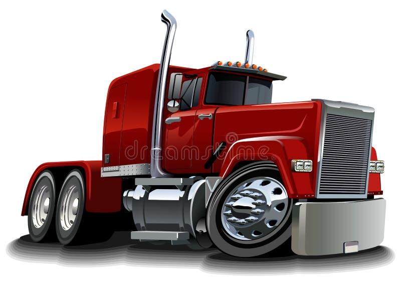 Dos desenhos animados caminhão semi ilustração do vetor