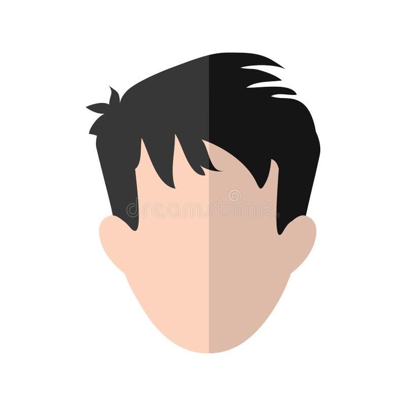 Dos desenhos animados masculinos do avatar do homem ícone social dos meios Gráfico de vetor ilustração royalty free