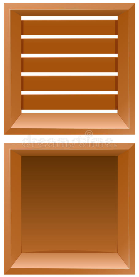 Dos diseños de tablero de madera stock de ilustración