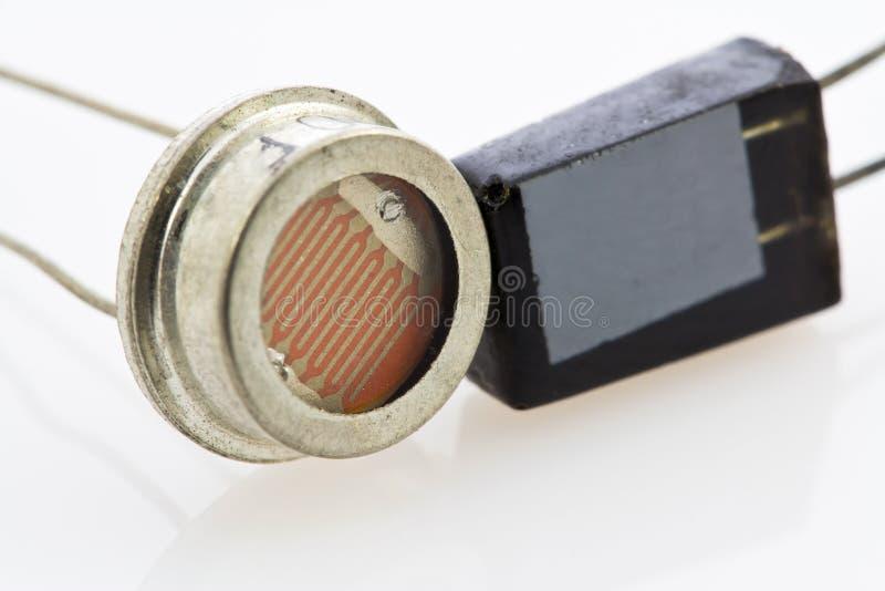Dos diversos tipos de sensores de semiconductor foto de archivo libre de regalías