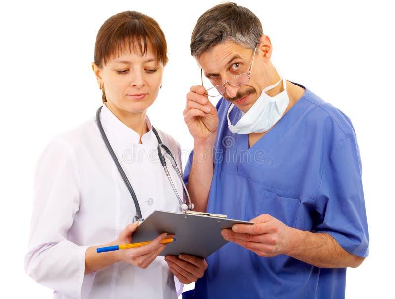 Dos doctores imagen de archivo libre de regalías