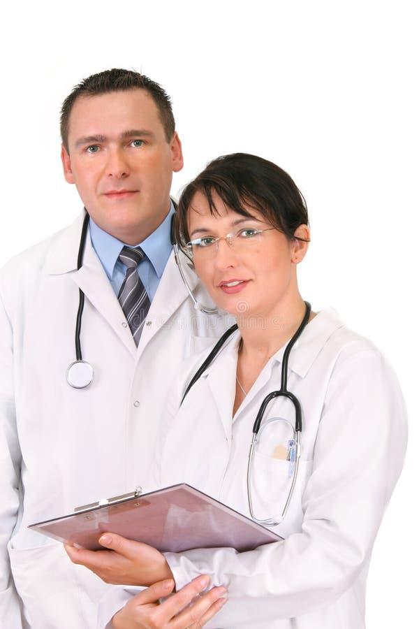 Dos doctores imagenes de archivo