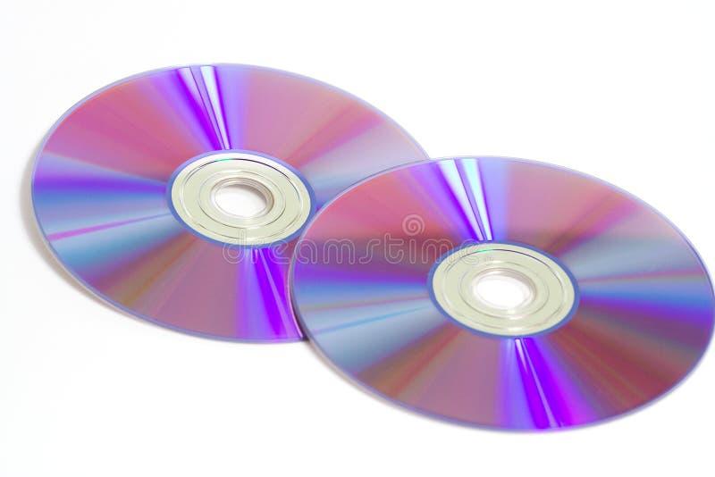 Dos DVDs foto de archivo libre de regalías