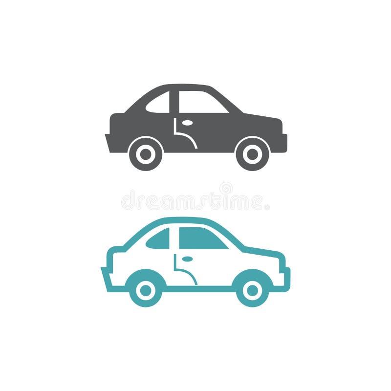 Dos ejemplos del vector del coche libre illustration