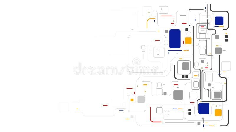 Dos elemento de dados geométricos do modelo de Digitas fundo abstrato ilustração royalty free