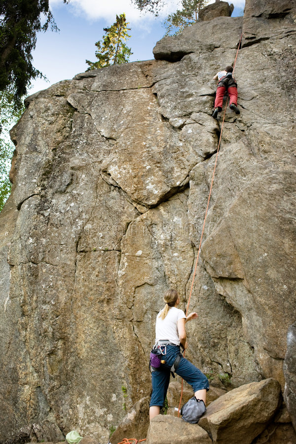 Dos escaladores fotos de archivo libres de regalías