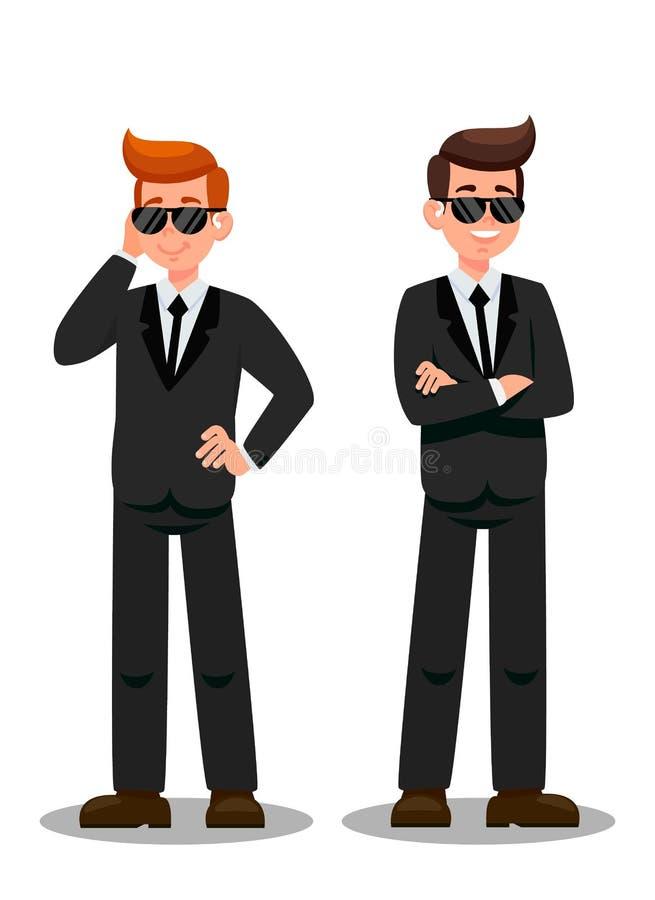Dos escoltas en personajes de dibujos animados de la asignación ilustración del vector