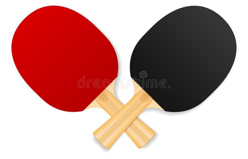 Dos Estafas Cruzadas Del Ping-pong Ilustración del Vector ...
