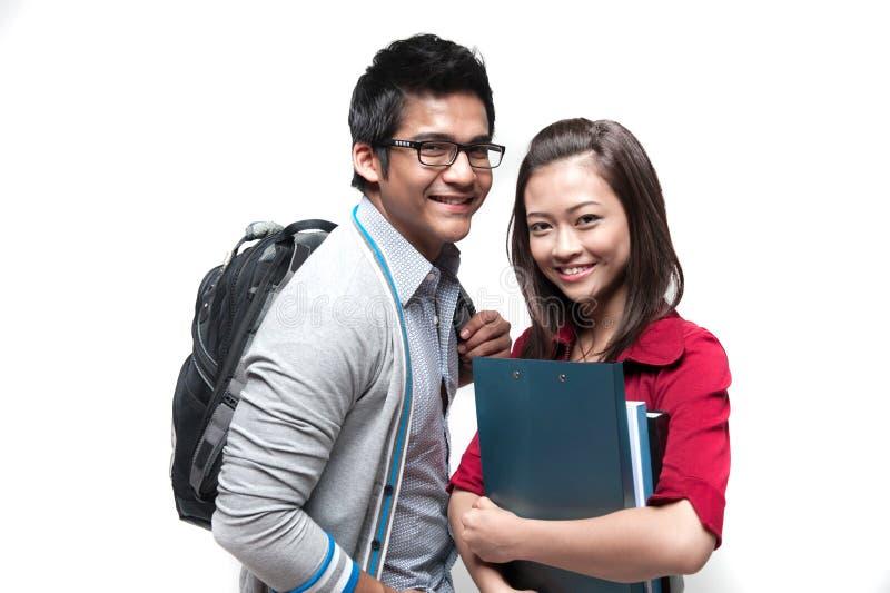 Dos estudiantes asiáticos imagen de archivo libre de regalías