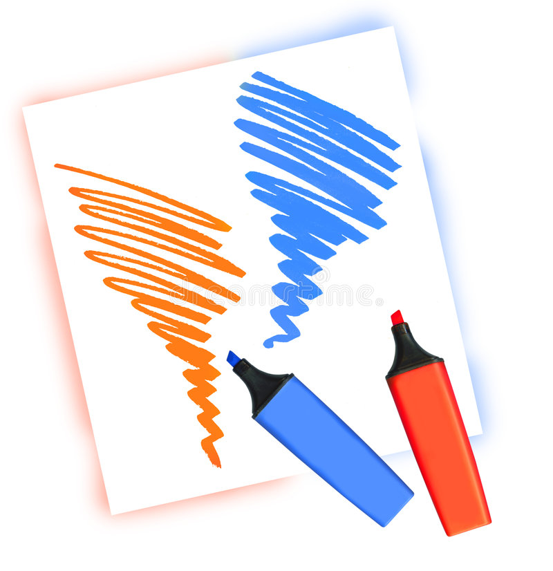 Dos etiquetas de plástico coloreadas libre illustration