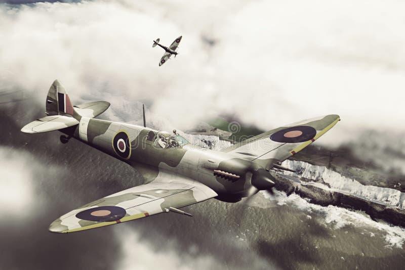 Dos fieras sobre Dover ilustración del vector
