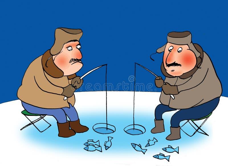 Dos fishermans stock de ilustración