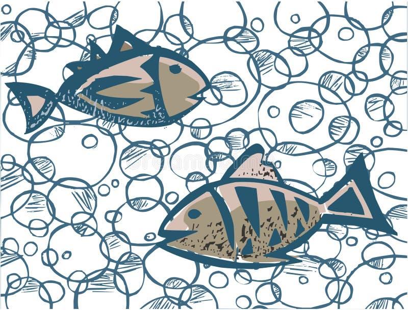 Dos Fishs stock de ilustración