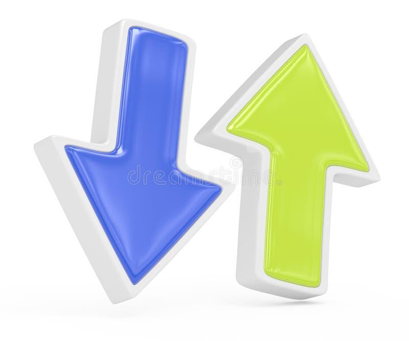 Dos flechas stock de ilustración