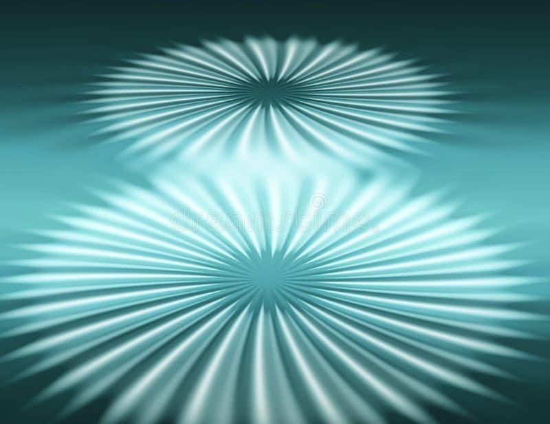 Dos flores cósmicas ilustración del vector