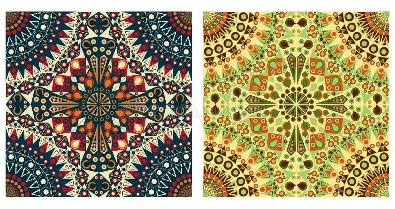 Dos fondos ornamentales libre illustration