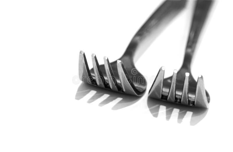 Dos forkes imagenes de archivo