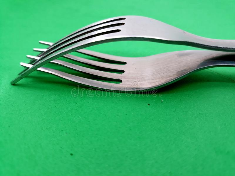 Dos forkes del metal fotografía de archivo