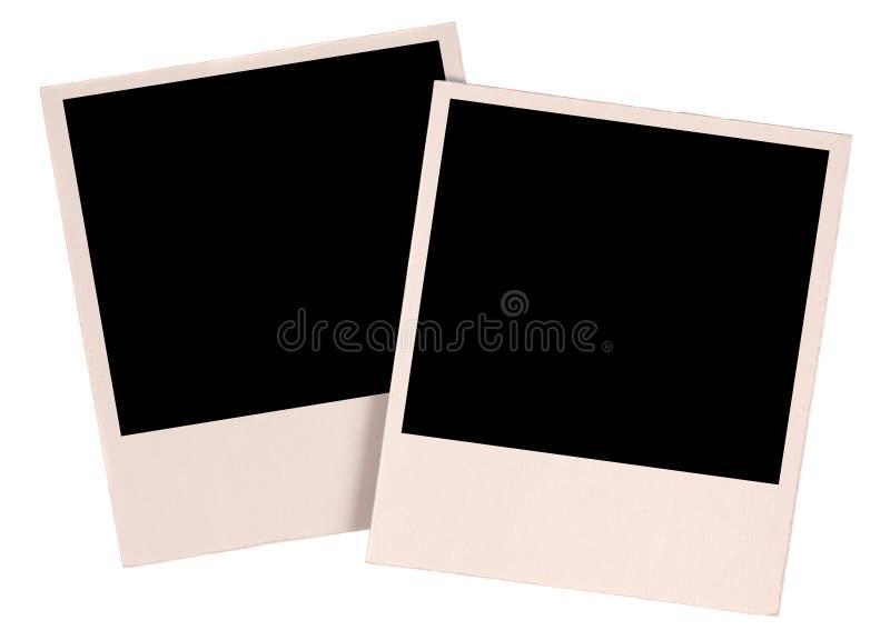 Dos fotos en blanco imagen de archivo