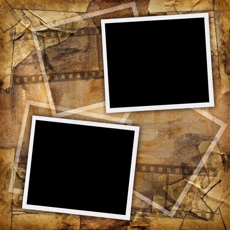 Dos fotos en blanco fotografía de archivo