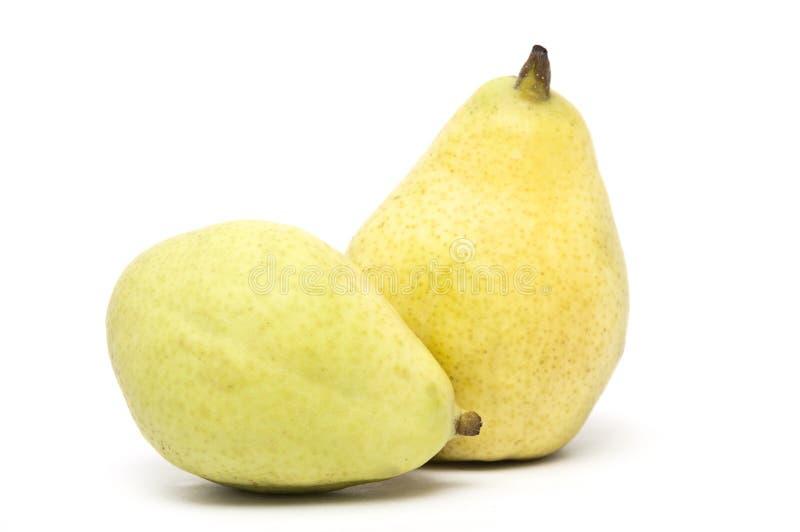 Dos frutas de la pera foto de archivo