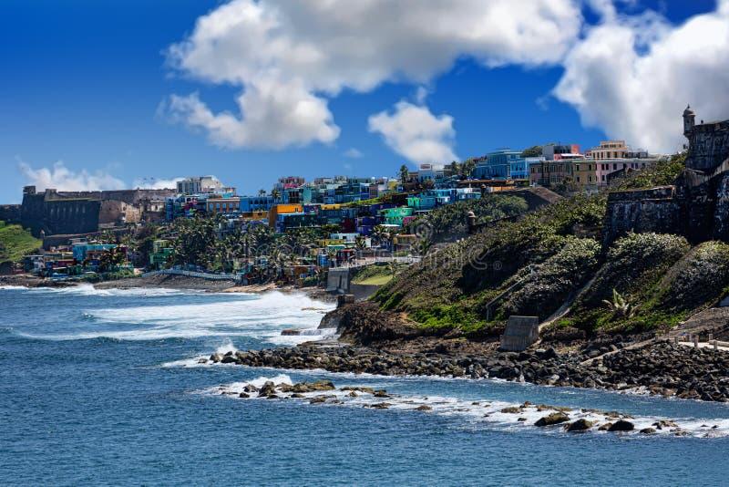 Dos fuertes en San Juan imagenes de archivo