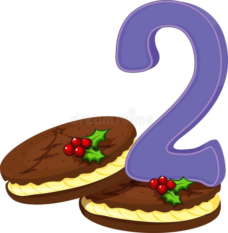 Dos galletas de la Navidad stock de ilustración