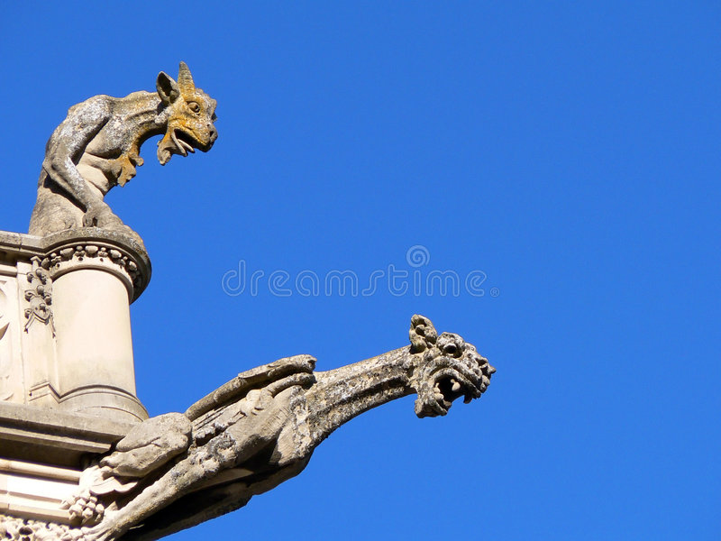 Dos Gargoyles imagen de archivo