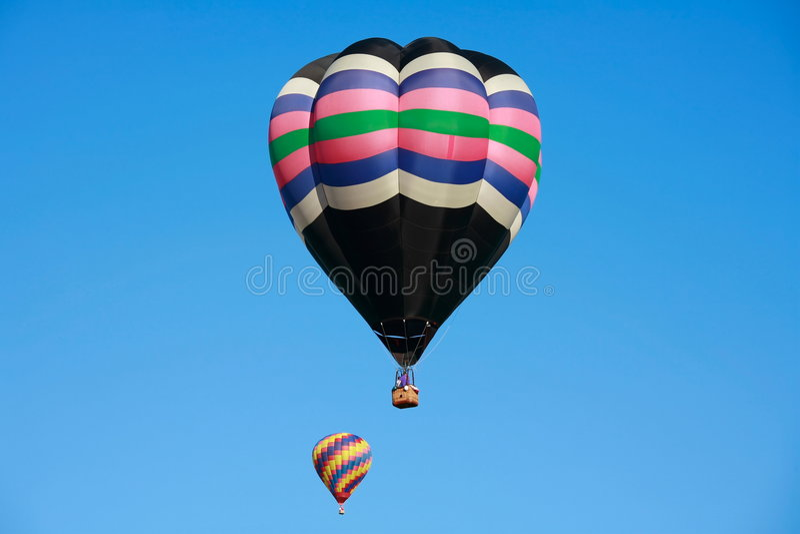 Dos globos del aire caliente imagen de archivo libre de regalías