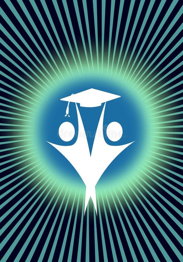Dos graduados acertados stock de ilustración