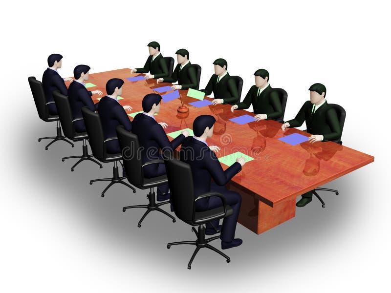 Dos grupos de businessmans en asunto informal yo stock de ilustración
