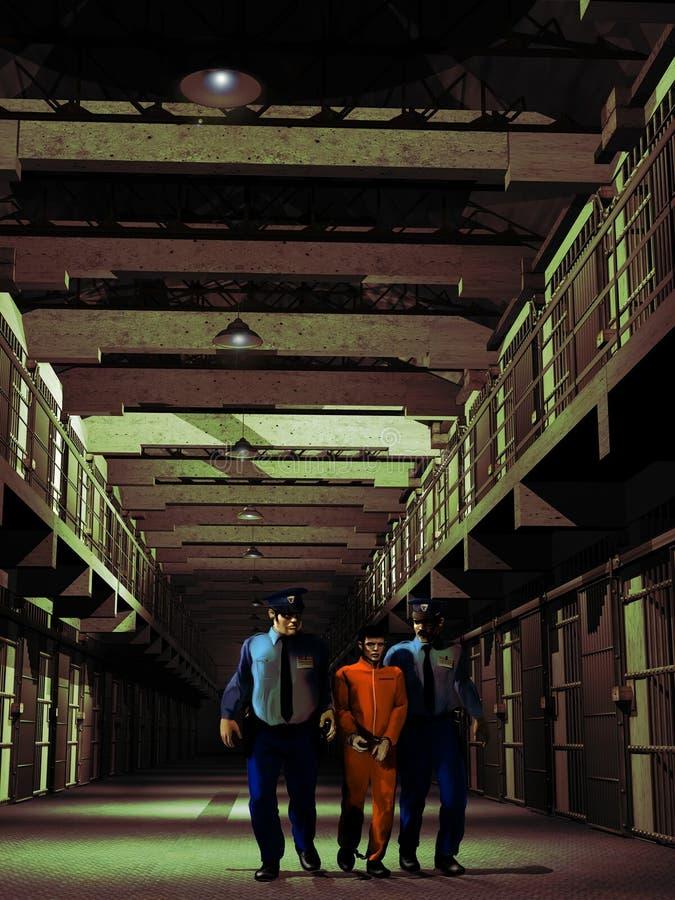 Custodia del preso stock de ilustración