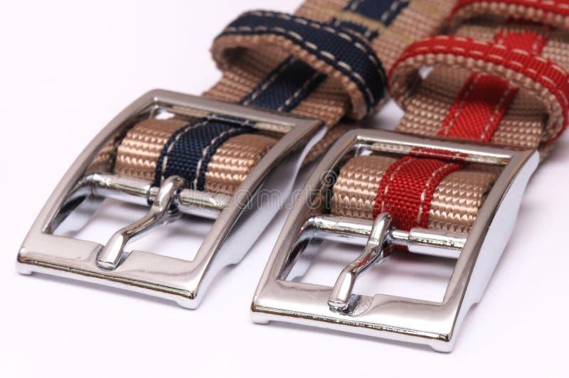 Dos hebillas del cinturón imágenes de archivo libres de regalías