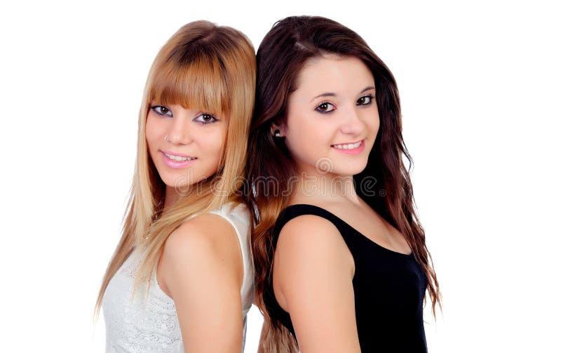 Dos hermanas adolescentes aisladas imagen de archivo - Polveros en dos hermanas ...