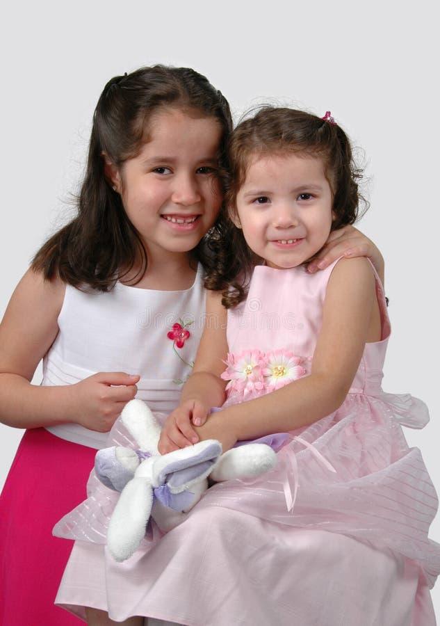 Dos hermanas hispánicas fotografía de archivo
