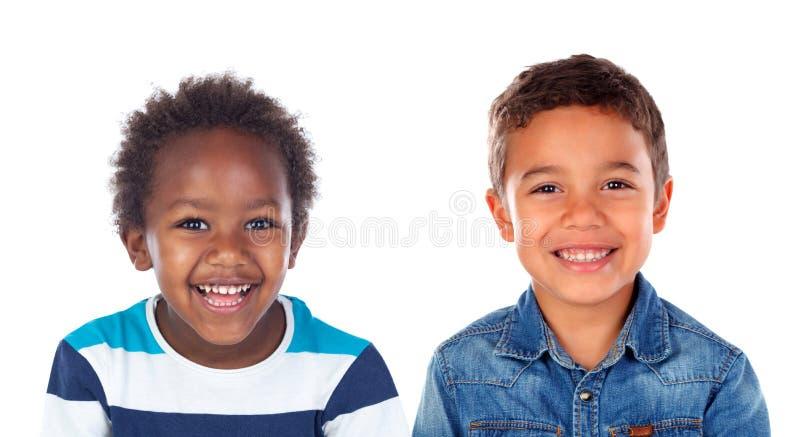 Dos hermanos felices foto de archivo