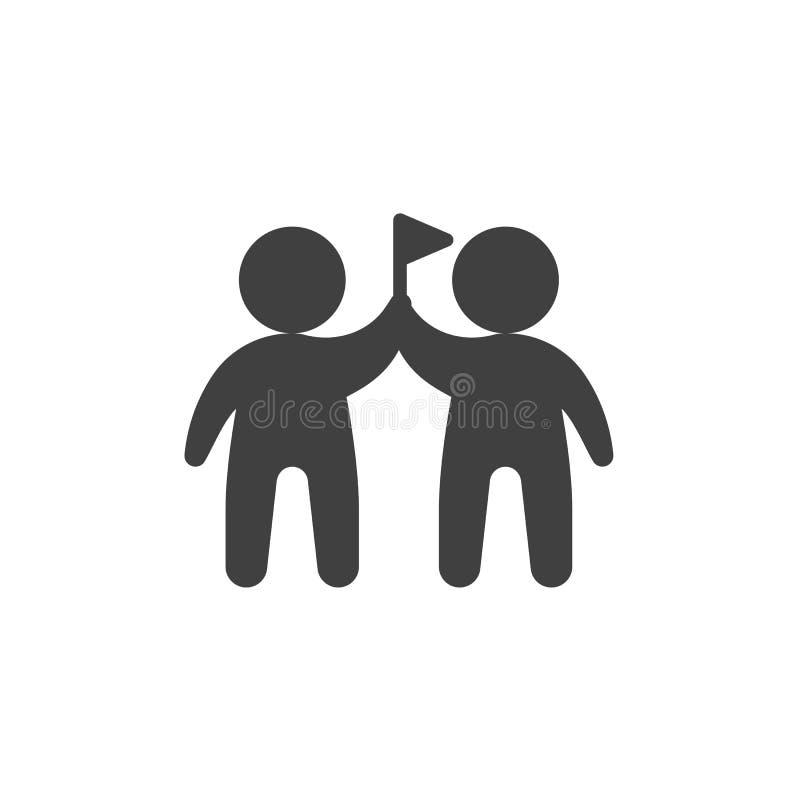 Dos hombres con el icono del vector de la bandera libre illustration