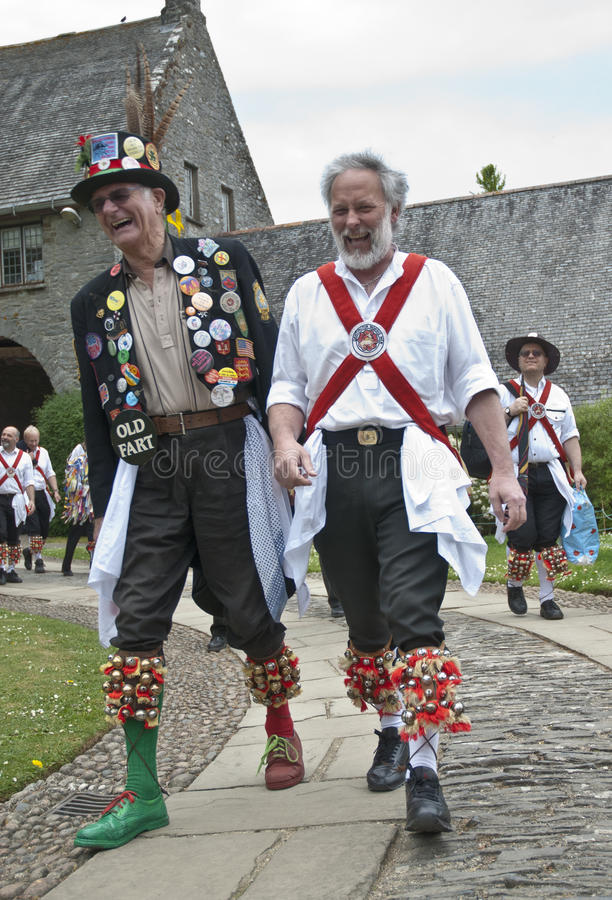 Dos hombres de Dartington Morris en la ceremonia de inauguración imagen de archivo libre de regalías