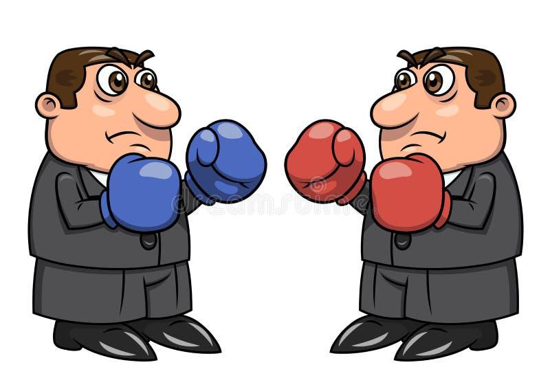 Dos hombres de negocios con los guantes de boxeo 2 libre illustration