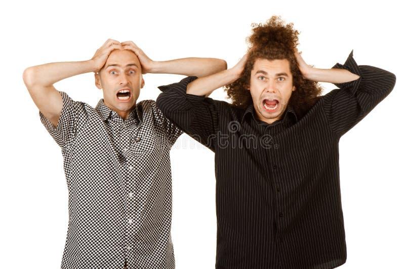 Dos hombres frustrados foto de archivo libre de regalías