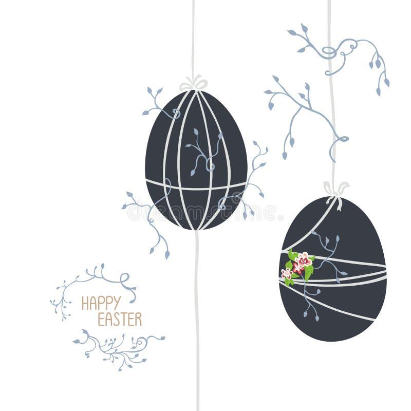 Dos huevos de Pascua en sombras frías ilustración del vector