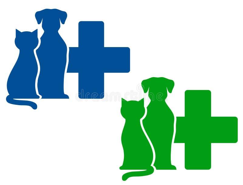Dos iconos veterinarios stock de ilustración