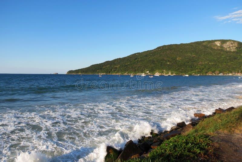 DOS Ingleses de Praia - polis de ³ de FlorianÃ, Santa Catarina - Brésil image libre de droits