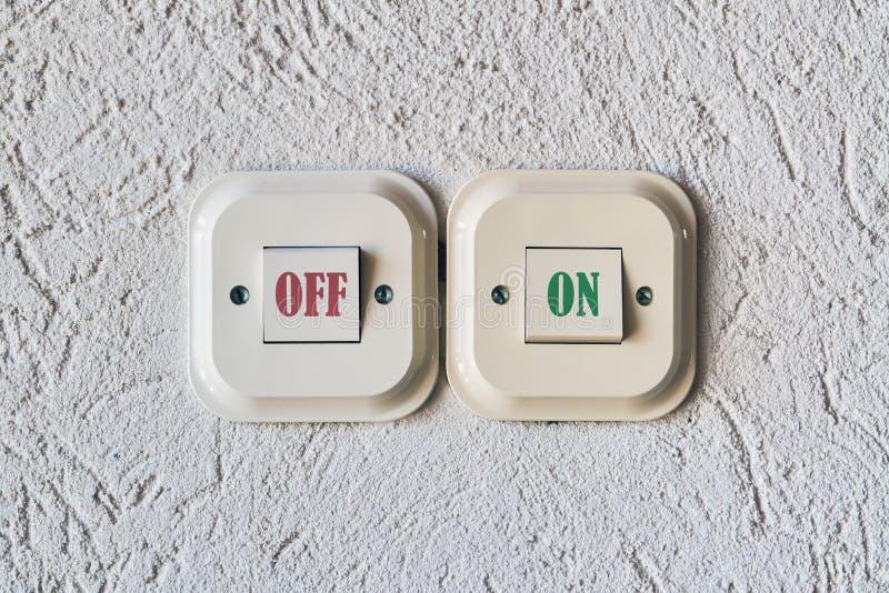 Dos interruptores eléctricos fotografía de archivo