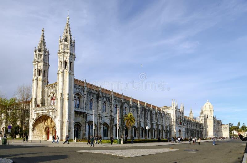 Dos Jeronimos монастыря в Belem, Лиссабоне, Португалии стоковое фото rf