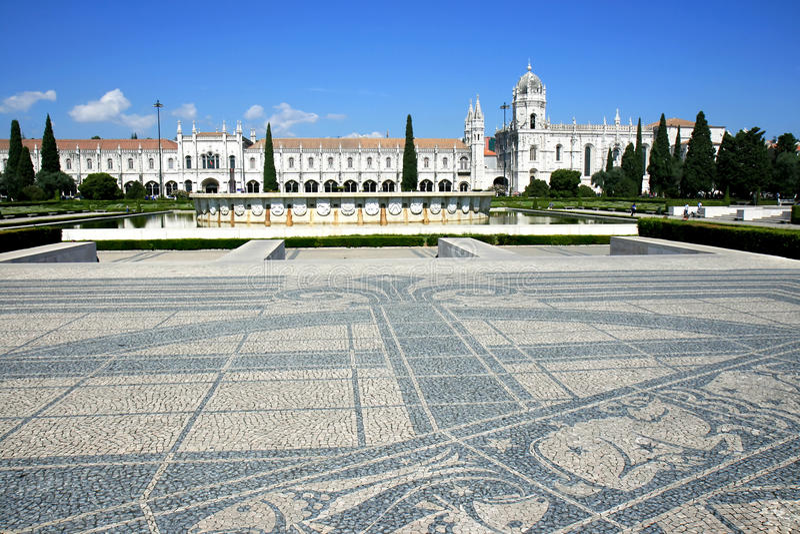 DOS Jeronimos, Lisboa, Portugal de Mosteiro fotografía de archivo