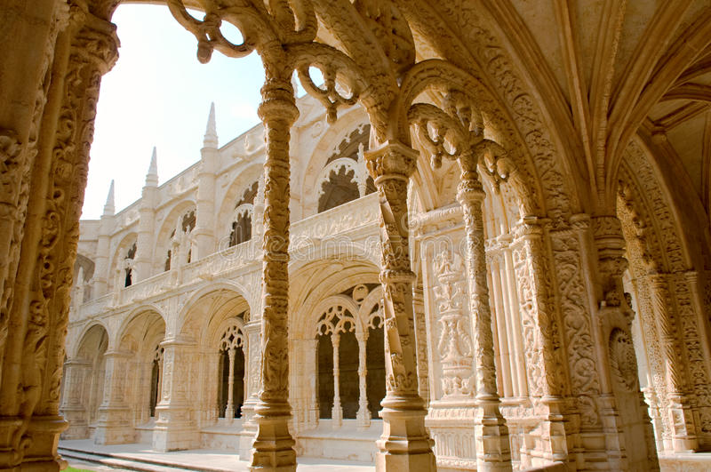 Dos Jeronimos Mosteiro стоковое фото rf