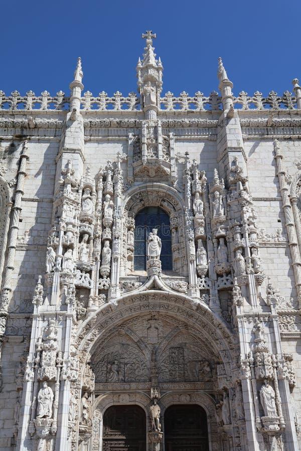 Dos Jeronimos van Mosteiro lissabon stock afbeeldingen