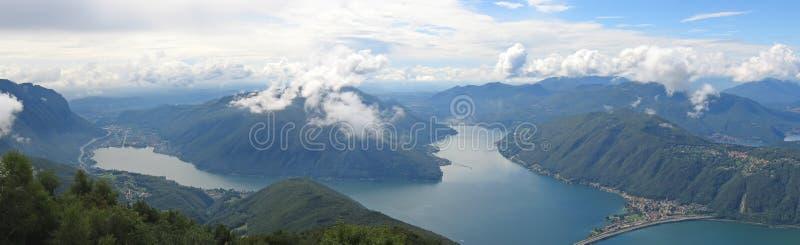 Dos lagos suizos foto de archivo libre de regalías